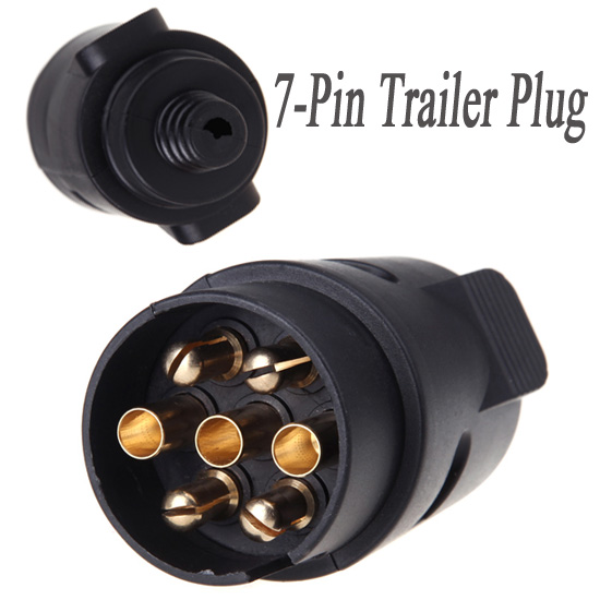 7pin trailer plug 7pole wiring connector 12v towbar towing caravan truck  plug n type trailer end plastic