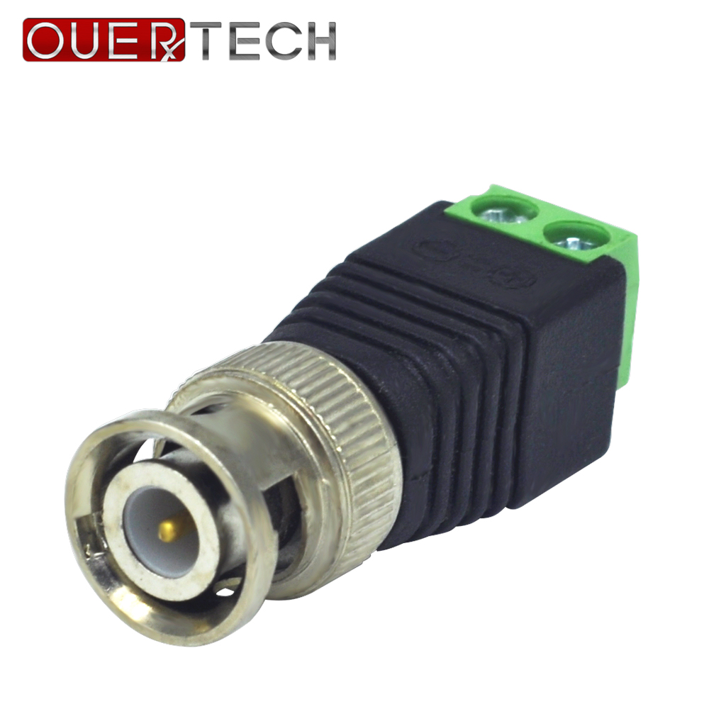 OUERTECH 10Pcs Coaxial CAT5  To BNC Camera CCTV TV Video Balun Cable Connector ABS Material Housing Adapter Socketz