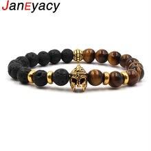 Janeyacy 2018 Модный женский браслет из натурального камня мужской