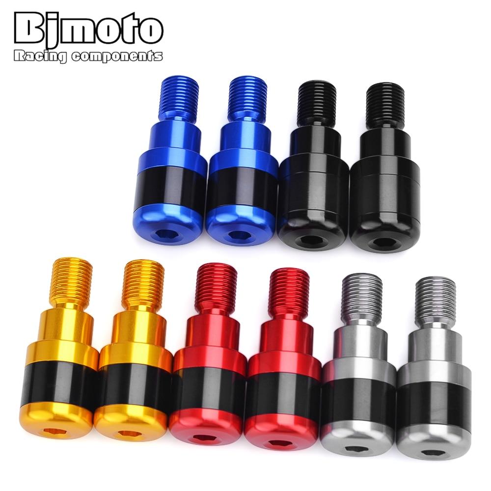 BJMOTO Motorcycle Handle Bar Grip Ends Caps Anti Vibration Slider Plug For Yamaha Tmax 530 500 Xmax 400 250 125 MT07 MT09 MT10
