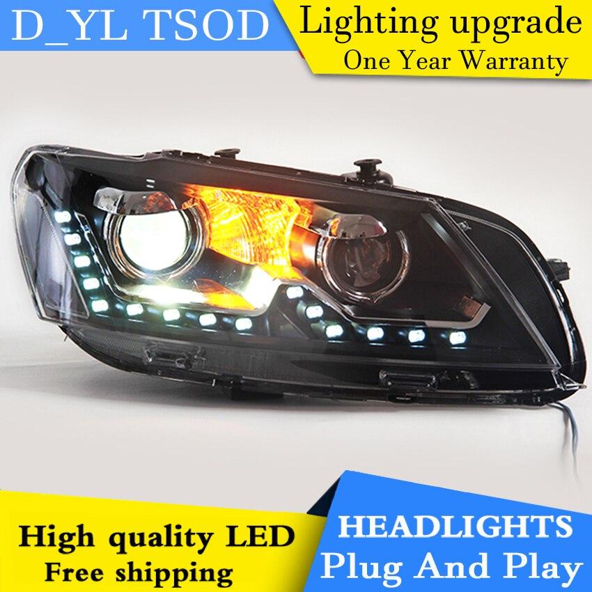Car Styling For VW Passat headlights 2011 2015 Passat led headlight GIT head lamp Angel eyes
