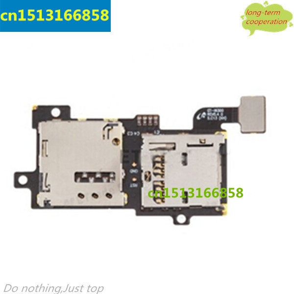 10 pieces/lot SIM Card and Memory SD Card Contact <font><b>Holder</b></font> Mobile <font><b>Phone</b></font> <font><b>Flex</b></font> Cable for Samsung Galaxy S3 S III SGH-i9305