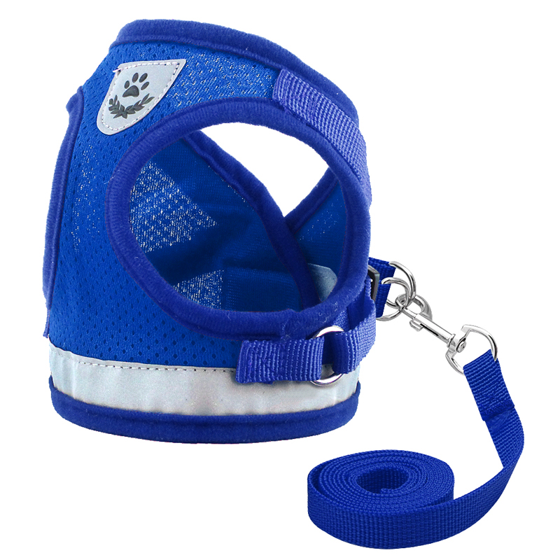 Cat Harness And Leash Set Reflective Kitten Puppy Dogs Vest Harness Leads Mesh Pet Clothes For Small Dogs Chihuahua Yorkies Pug #5