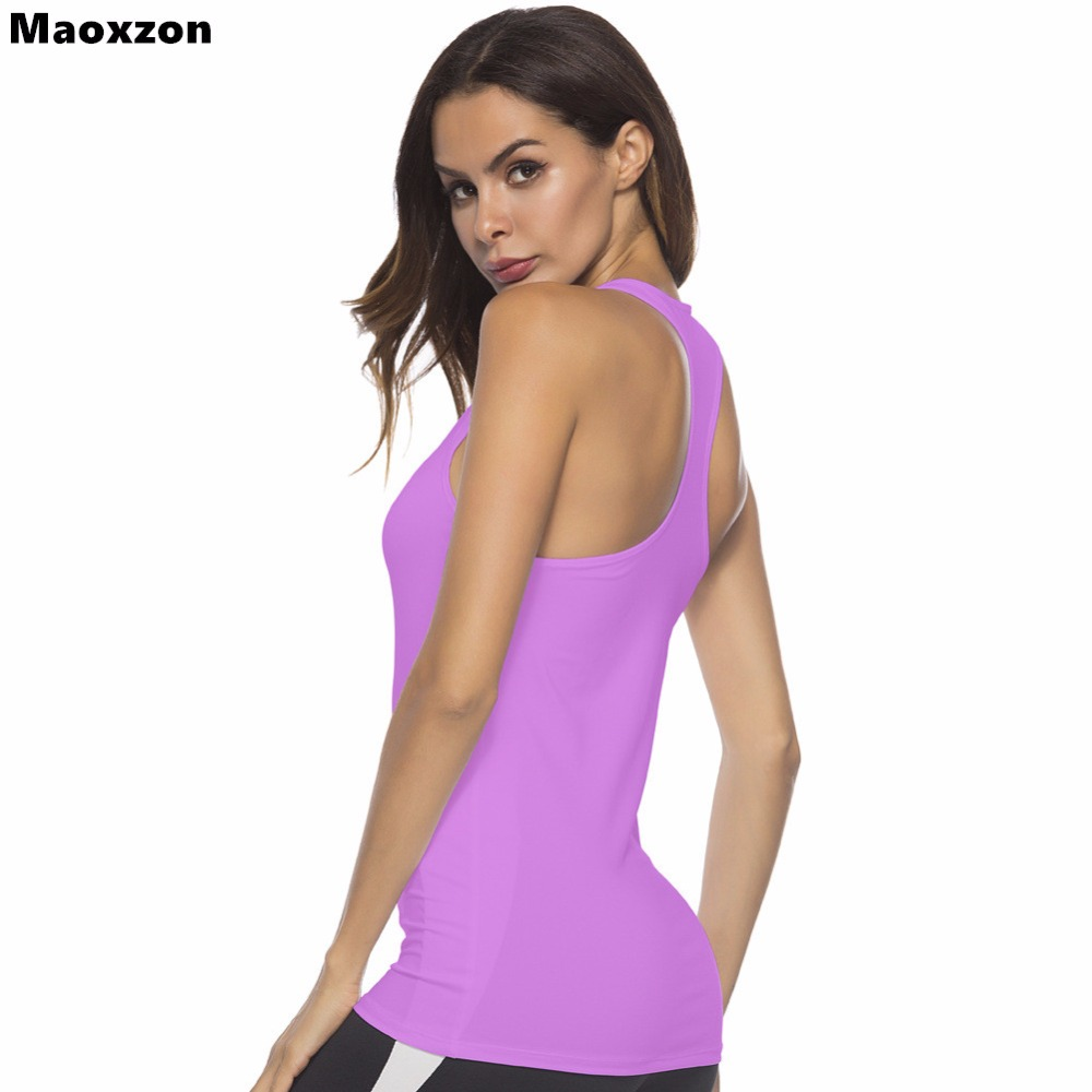 Maoxzon Womens <font><b>Sexy</b></font> Workout Fitness Slim Tank Tops For <font><b>Girls</b></font> <font><b>Hot</b></font> Sale Summer Casual Sleeveless Gymnasium Jogger Vests Tanks <font><b>XXL</b></font> image