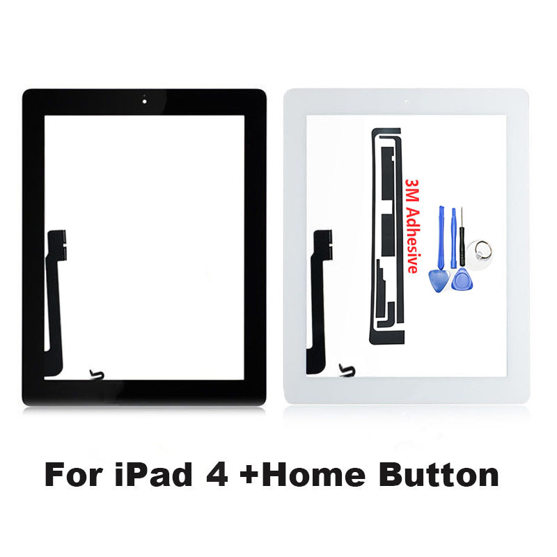 Tablet for iPad 4 A1458 A1459 A1460 Touch Screen Digitizer Glass Panel 9.7 Inch with Home Button