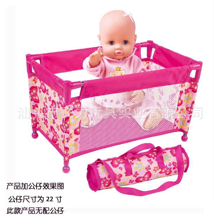 Doll Sleeping Bed DIY Baby Pretend Play Toy Crib Doll House Furniture Doll Cot Miniature Bed Simulated Baby Cot Role Playing in Furniture Toys from Toys Hobbies
