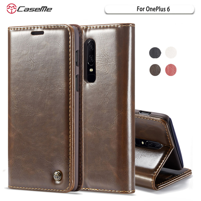 save off cf2d4 9b08d US $9.99 |CaseMe For OnePlus 6 Phone Case Hot Luxury Flip Wallet Leather  Stand Magnetic Phone Case Cover For One Plus 6 1Plus6 Shell New-in Wallet  ...