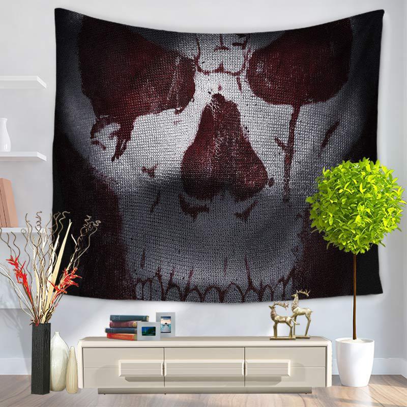 Hippie Skull Tapestry Wall Hanging Mandala Home Decor Tapestries Wall Hanging Beach <font><b>Towel</b></font> Picnic Camping Travel Mat Blanket