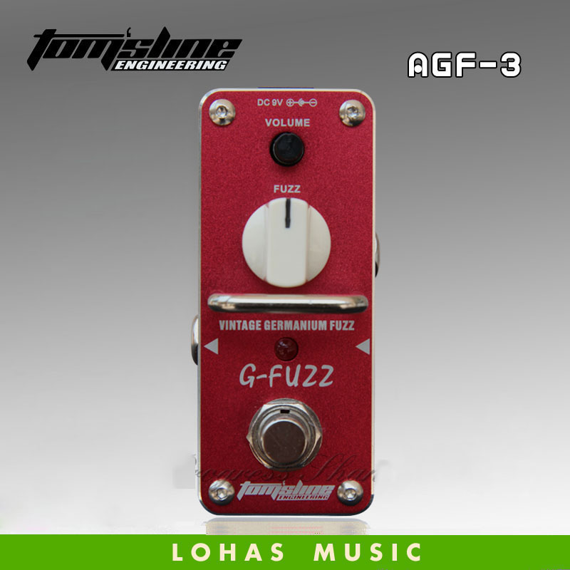 Hot saleTOM'SLINE AGF-3 G-FUZZ Classic Fuzz Vintage Germanium Fuzz Effect Mini Analogue Effect True Bypass new diy fuzz