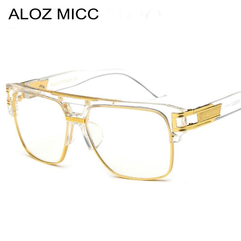 ALOZ MICC Brand Fashion Women Glasses Frame Vintage Men Oversize Clear Lens Glasses Men Eyeglasses Frames Acetate Glasses Q15