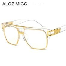 ALOZ MICC Brand Fashion Women Glasses Frame Vintage Men Oversize Clear Lens Eyeglasses Frames Acetate Q15