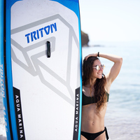 Oferta 340 81 15cm tabla de surf inflable TRITON 2019 Tabla de pie de paddle surf AQUA