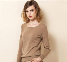 100%Cashmere Sweater Women Fashion Khaki White Black Pullover Solid Natural Fabric High Quality Free Shipping