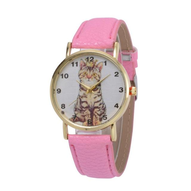 Women's Cat Printed Casual Watches