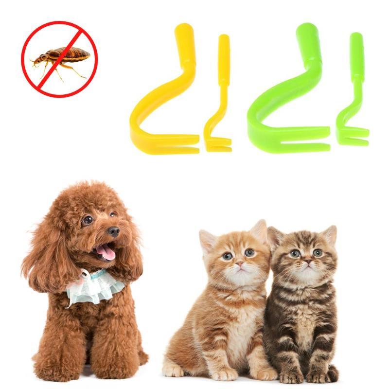 2Pcs Fleas Lice Twister Hook Tool Remover Plastic Portable Horse Human Pet Cat Dog Pet Supplies Tick Remover Tool
