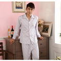 Ropa de Dormir de los hombres de Algodón de Punto Cómodo Casual Homewear Pijamas Traje de Ocio Ropa de Dormir Camisón
