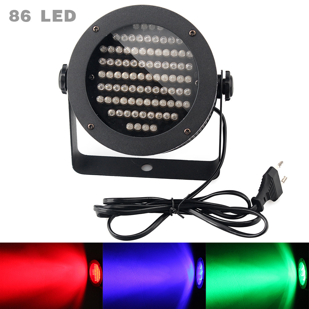 86pcs Beads Par LED RGB LED Stage Lights DMX512 Projector Lamp Lights for Party Wedding Birthday Pub Have US UK EU AU Plug