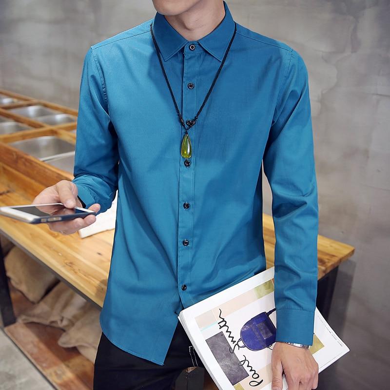 Neue Angekommene 2018 Mens Arbeit Kleid Formale Einfarbige Shirts Marke Langarm Männer Party Shirts Weiß Männlichen Shirts M-4xl 5xl Und Ein Langes Leben Haben.