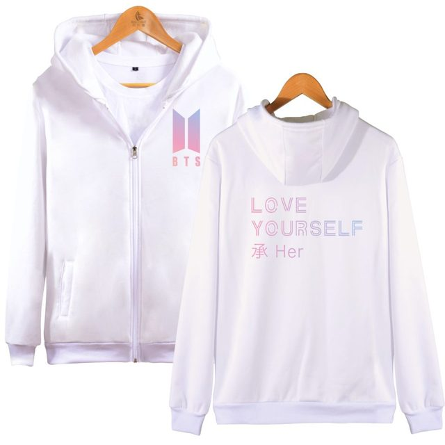 BTS Love Yourself Zipper Hoodie