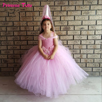 Flower Girls Tutu Dress For For Child Birthday Party Princess Dress Kids Girls Ball Gown Tulle