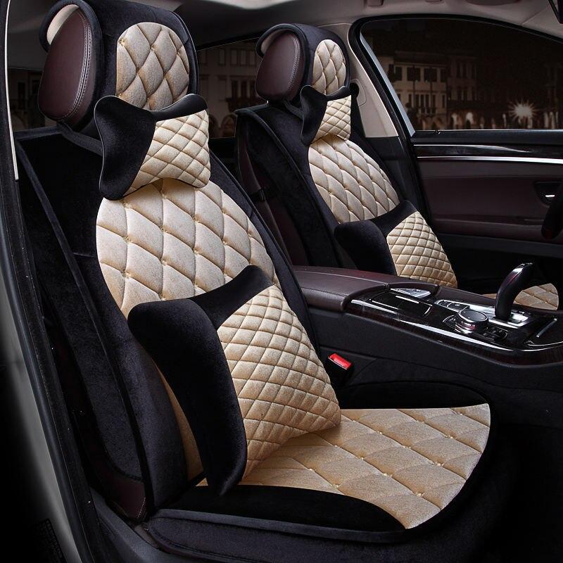 Winter Plush Car Seat Cover Cushion For Volkswagen Beetle CC Eos Golf Jetta Passat Tiguan Touareg sharan Car pad