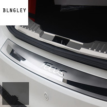 Free shipping for 2005 2011 Ford Focus MK2 hatchback and sedan Stainless Steel back rear trunk