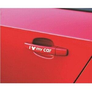 Image 4 - Mickey Mouse I love my รถสะท้อนแสงสติกเกอร์จัดแต่งทรงผมประตูหน้าต่างตกแต่งอุปกรณ์เสริมสำหรับรถยนต์ BMW Mercedes ฯลฯ