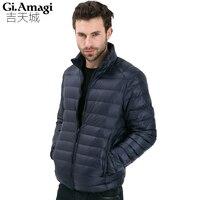 2017 Outono Inverno Jaqueta de Pato Para Baixo, Luz Ultra Fino plus size jaqueta de inverno para os homens mens Moda Outerwear casaco