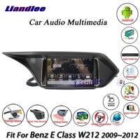 Liandlee Sistema Android Carro Para Mercedes Benz Classe E W212 2009 ~ 2012 Tela de Navegação BT Rádio CD DVD Player GPS Nav multimídia