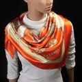 90 cm * 90 cm Precio Más Bajo 2017 Nuevas Mujeres de Gran Tamaño 90x90 cm Cuadrado de Seda Imitado Hijab Del Mantón de La bufanda de Marca de Alta Calidad