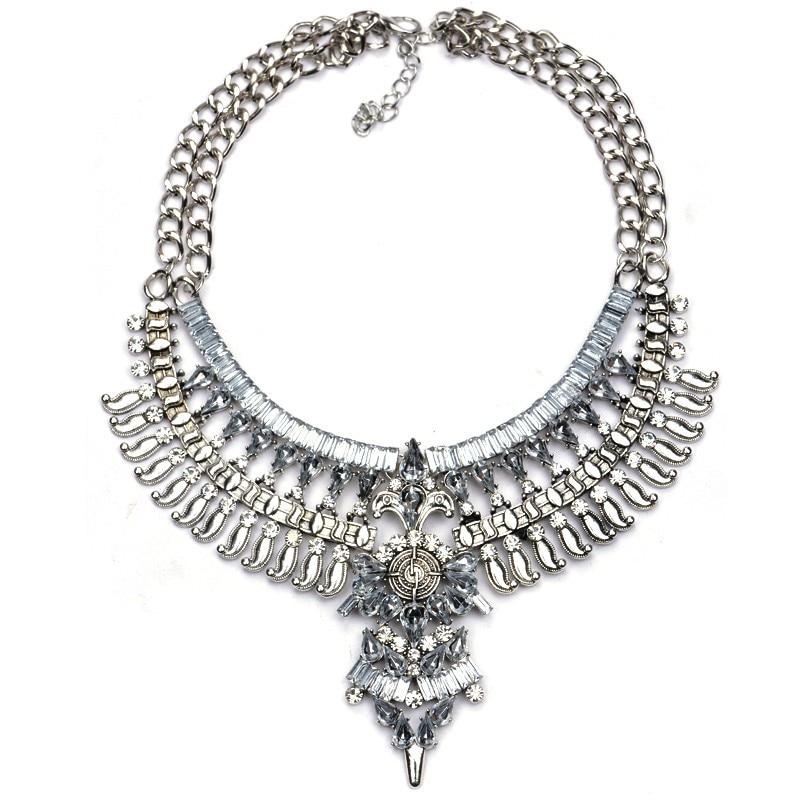 JERPVTE Vintage srebrne ogrlice i privjesci Vintage Crystal Maxi - Modni nakit - Foto 2