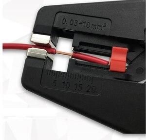 Image 5 - Alicate de isolamento autoajustável, descascador de fios, faixa 0.03 10mm2, descascador de fios plano