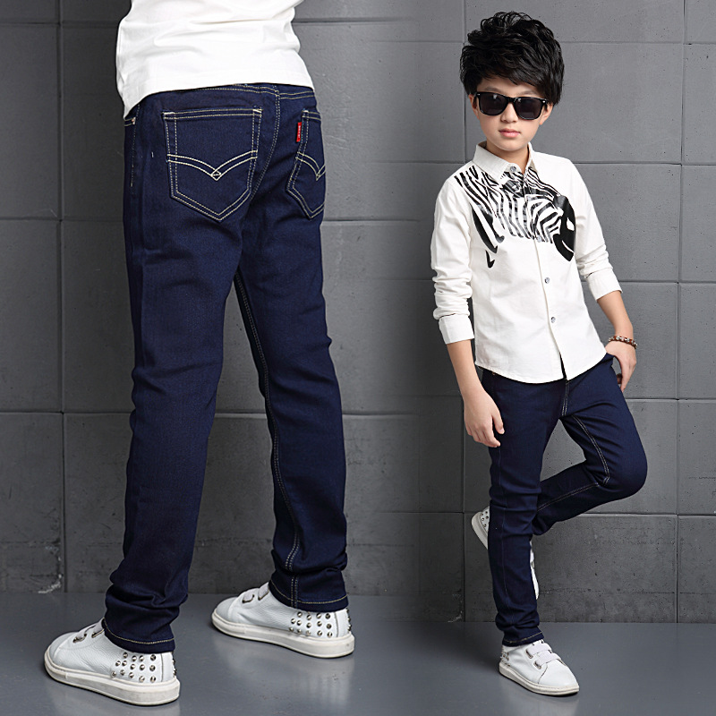 children of autumn jeans 5 6 7 8 9 10 11 12 13 14 15 years teenage boy 39 s trousers new fashion. Black Bedroom Furniture Sets. Home Design Ideas