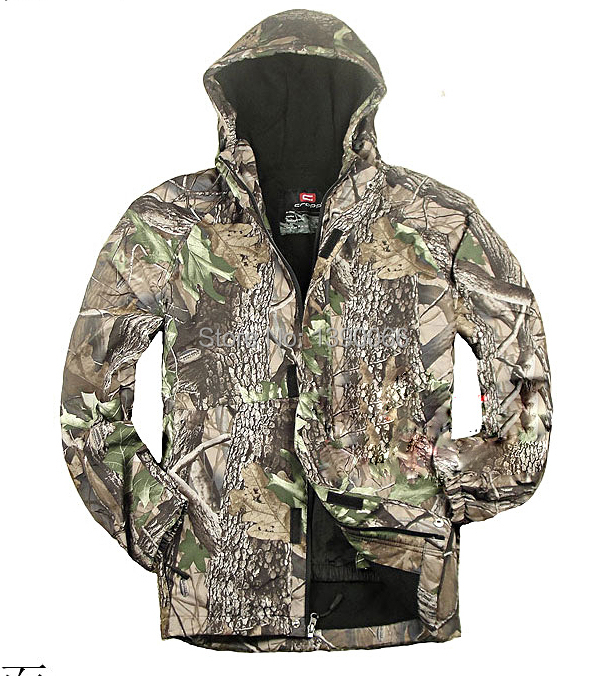 Outdoor waterproof windproof bionic Camouflage Clothes jacket Biomimicry Jungle Raincoat Cold-proof Winter Hunting clothes jungle new outdoor men s recreational fishing hunting baseball cap bionic camouflage