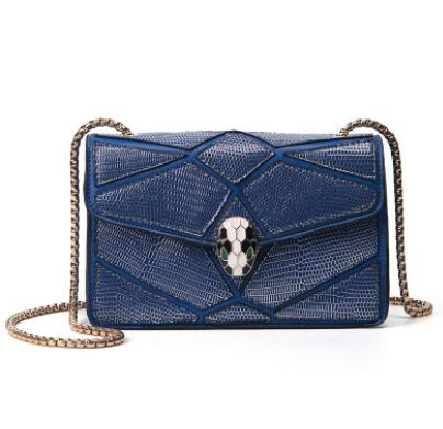 2017 New Fashion Europe Famous Designer Snake Head Chain Bag Luxury Handbags High Quality Women Crossbody