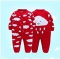2016 Novo Inverno Do Bebê Das Meninas Dos Meninos Roupas de Manga Comprida Um peça Romper Do Bebê Recém-nascido Roupas Roupas de bebe Nuvem Cinza blusas