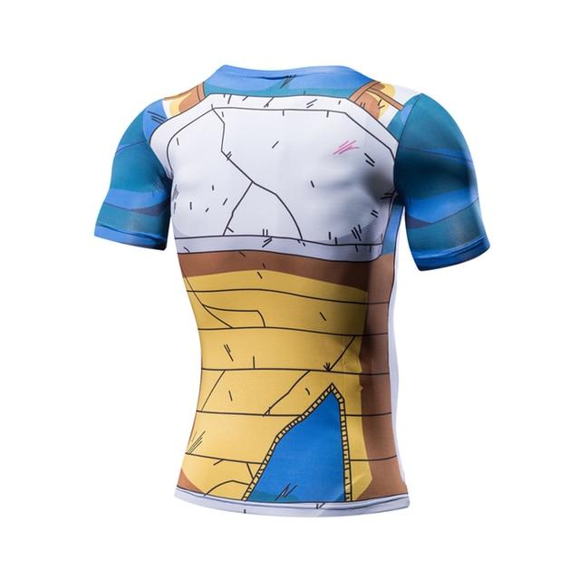 Anime Ball Z Men Dragon Ball Z T Shirt Vegeta Goku Super Saiyan Summer Style Jersey 3D Tops Fashion Clothing Tees Fitness Tights