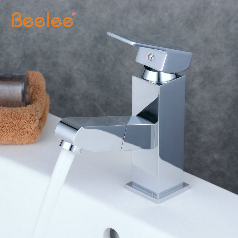 Beelee Free Shipping Big Sale New Basin Pull out Faucet , Bathroom Sink Faucet Hot/cold,Copper Water Tap Basin mixer BL2023 free shipping free shipping pull out faucet polished chrome bathroom faucet basin sink mixer tap torneira banheiro bf031
