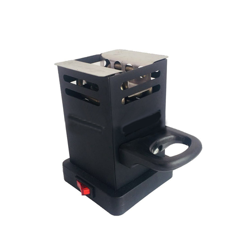 Black Shisha Hookah Charcoal Stove Heater Mini Square Charcoal Oven Hot Plate Coal Burner Pipes Accessories With EU Plug J05 Lahore