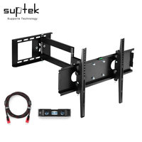 Articulating TV Wall Mount Bracket for 26 55LCD LED Plasma 3D TV with VESA up to 400x400, Full Motion Tilt Swivel long arm