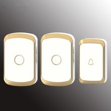 newest Waterproof Wireless Doorbell 36 rings 3 volume door chime 300M remote digital door bell EU/US/UK/AU plug new 1000ft range waterproof doorbell us eu plug door bell wireless lucky star 36 music ac 110v 220v door chime 433mhz e06 white
