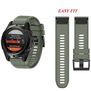 Fivstr 26 ミリメートル 22 ミリメートルクイックリリース簡単なフィット時計バンドリストストラップガーミンフェニックス 5X/3 3HR フェニックス 5 S60/D2 チャーリー/降下 Mk1