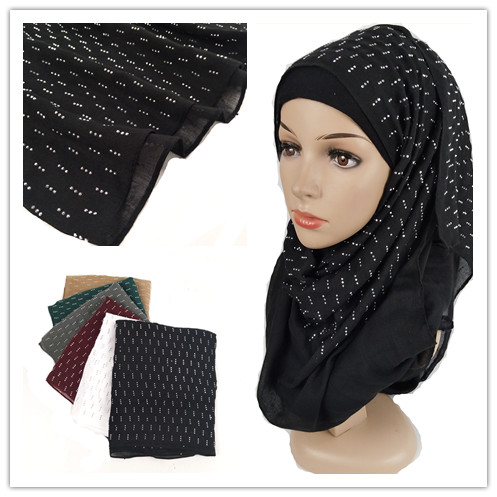 H321 High quality diamond viscose long hijab   scarf   shawls wrinkle women   scarf  /  scarves   haedband   wrap   10pcs/lot 180*90cm
