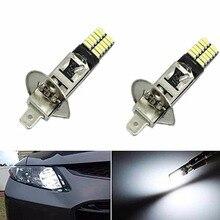 Супер яркий 6500K 24-SMD-4014 2x H1 светодиодный сменный светильник для автомобиля, противотуманный светильник s, светодиодный светильник для вождения автомобиля