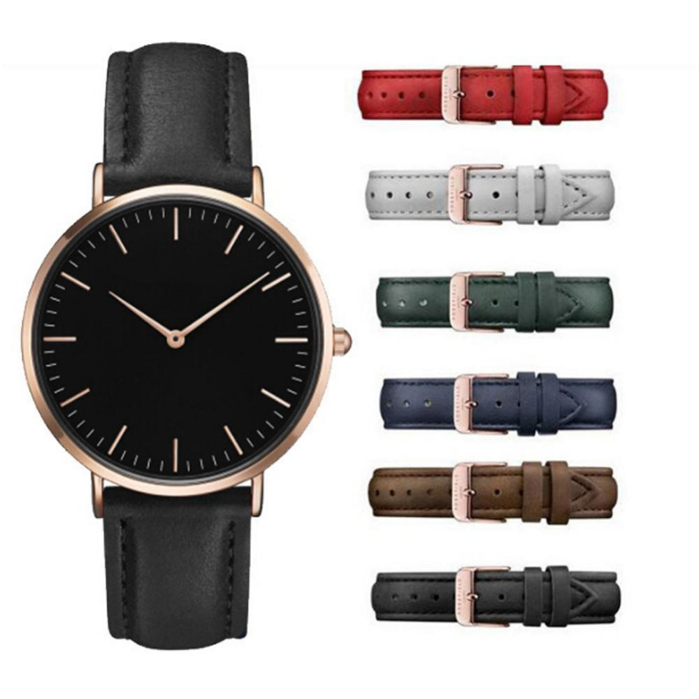 Retro PU Leather Band Analog Quartz Wrist Watch Clock Simple Casual Women Men Watches Ladies Minimalist Watch retro hollow number style pu leather band women s quartz analog wrist watch bronze red 1 x 377