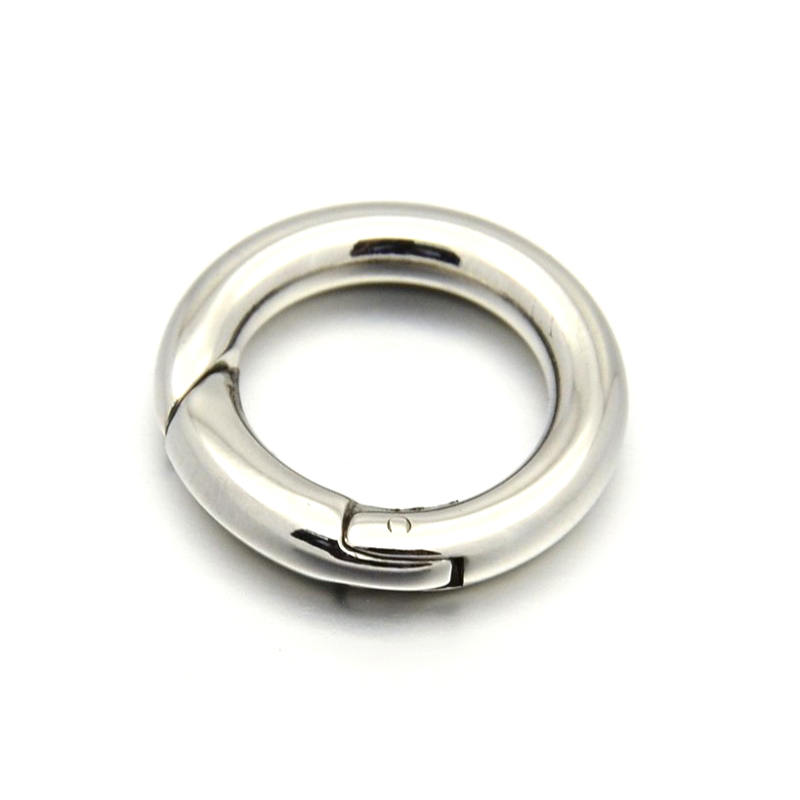 10pcs Ring 304 Stainless Steel Spring Gate Rings O Rings Snap Clasps Stainless Steel Color 15/16/17/20mm For DIY Jewelry Making