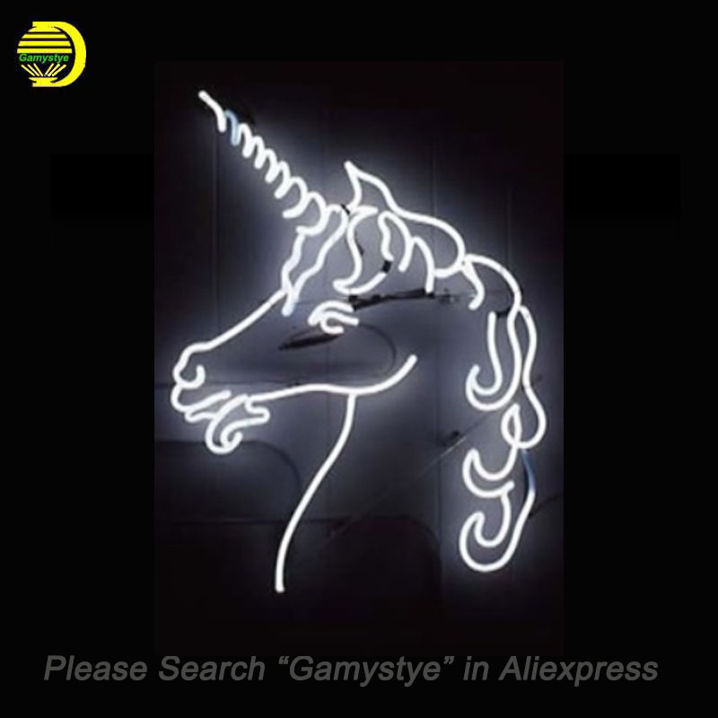 NEON SIGN for sheep Horned horse Angel REAL GLASS BEER BAR PUB display Light Signs Signboard Store Shops 19*15 Handmade Custom