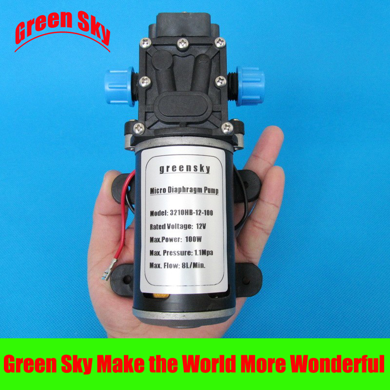 160PSI 8L/Min 100W car washing,medical,chemical equipment,lawn and garden irrigation use 12v self priming diaphragm pump