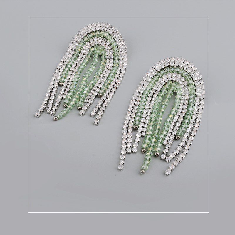 Detail Feedback Questions about rhinestone inlay Crystal Drill Blink Light  Luxury Copper One Piece Stud Earings and Clipon earring Kupe Joyas Fashion  ... 40b8d251285c