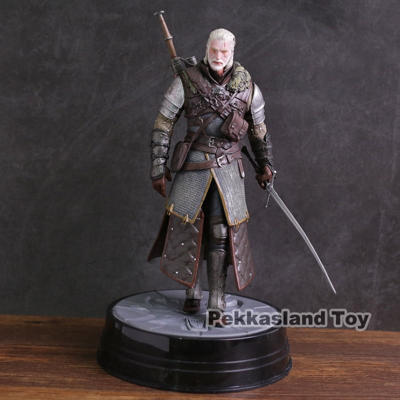 The Witcher 3 sauvage chasse Geralt de Rivia noir cheval PVC Statue Figure à collectionner modèle jouet